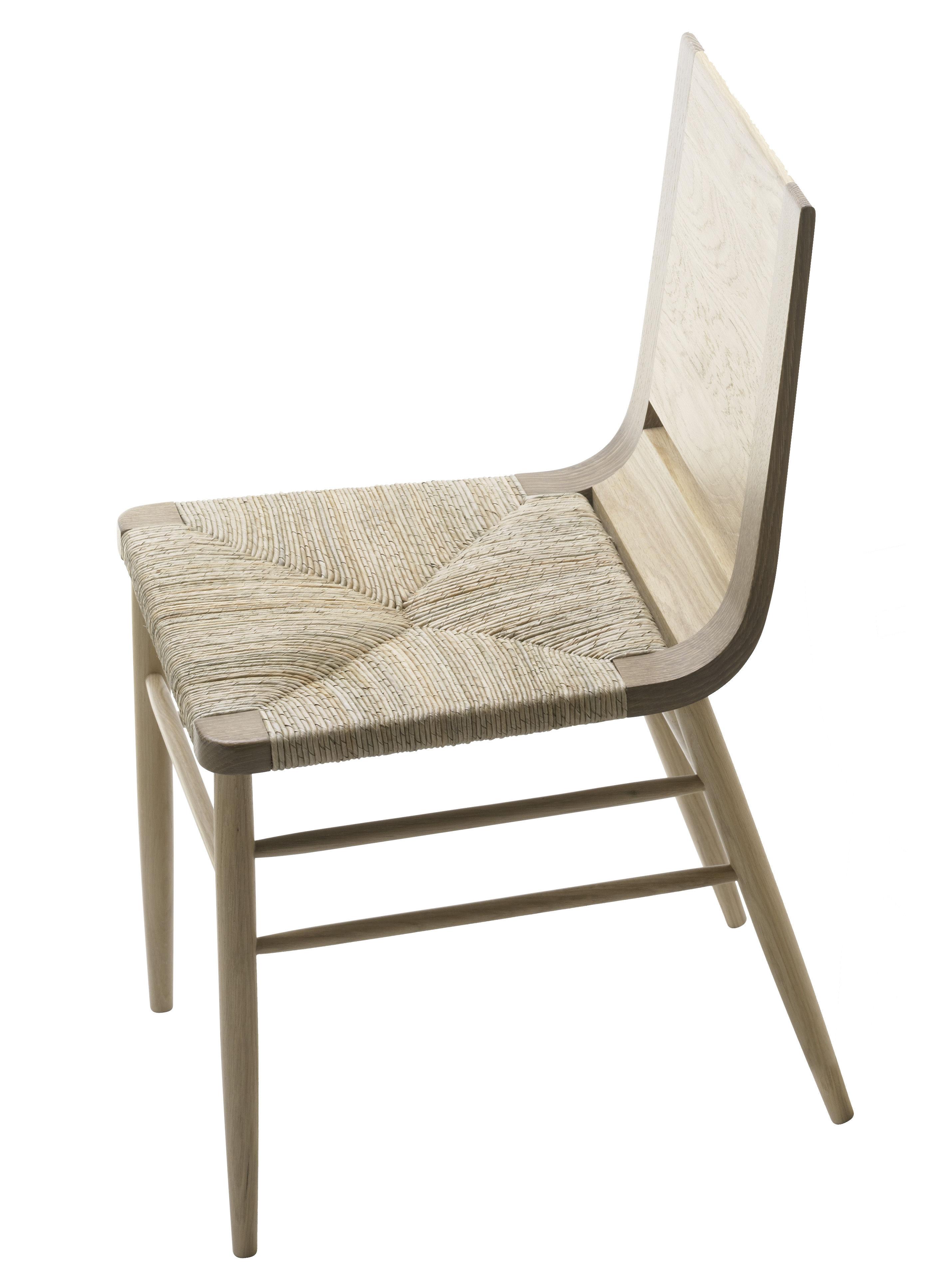 Mobilier - Chaises, fauteuils de salle à manger - Chaise Kimua assise paillée - Alki - Chêne naturel - Chêne massif