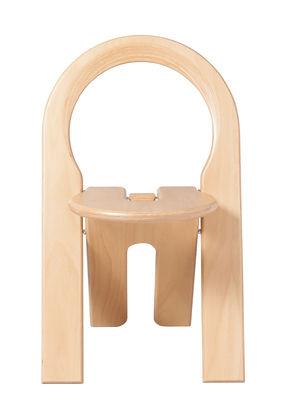 Mobilier - Chaises, fauteuils de salle à manger - Chaise pliante TS Roger Tallon / Réédition 1977 - Sentou Edition - Chaise / Bois naturel - Stratifié de bouleau naturel