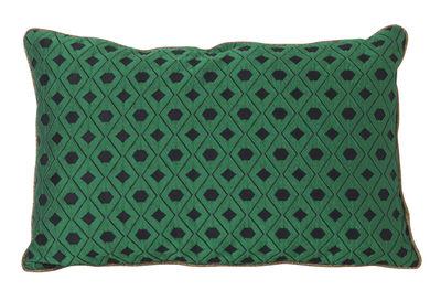 Interni - Cuscini  - Cuscino Salon - Mosaic - / 40 x 25 cm di Ferm Living - Verde -  Plumes, Mélange di fibre, Velluto