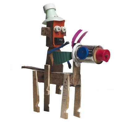 Déco - Tendance humour & décalage - Décoration Trash Doll par Getulio Damado - Cavalier H 27 cm - Skitsch - Multicolore - Bois, Matière plastique, Métal