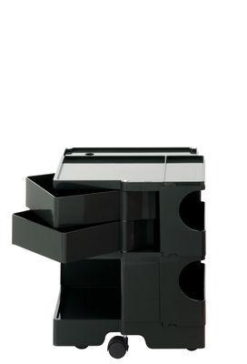 Desserte Boby / H 52 cm - 2 tiroirs - B-LINE noir en matière plastique