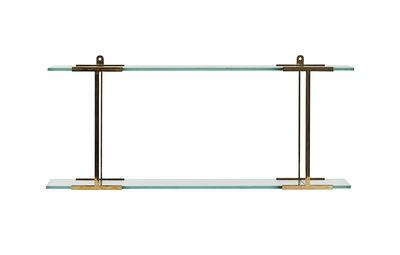 Mobilier - Etagères & bibliothèques - Etagère Pure / L 60 cm - Verre & laiton - House Doctor - Laiton & transparent - Laiton, Verre