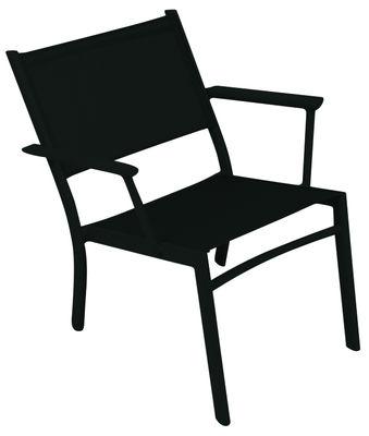 Mobilier - Fauteuils - Fauteuil bas Costa - Fermob - Réglisse - Aluminium, Toile polyester