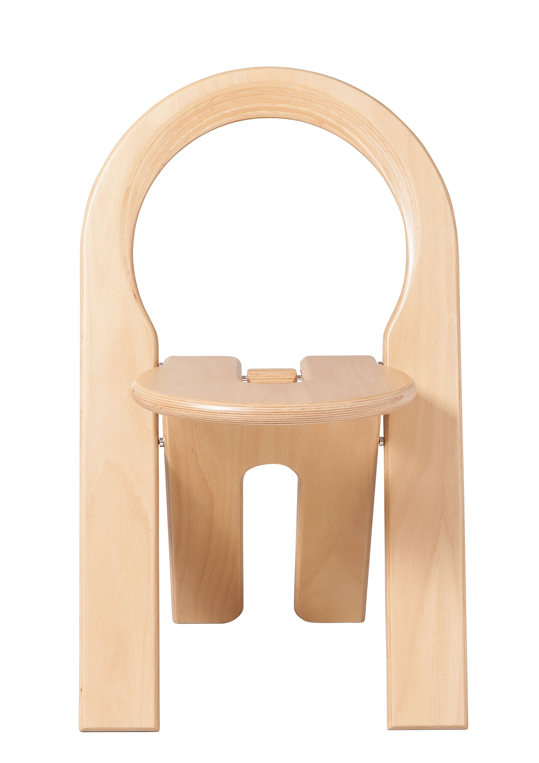 Furniture - Chairs - TS Folding chair - Roger Tallon / 1977 reissue by Sentou Edition - Chair / Natural wood - Natural stratified birch