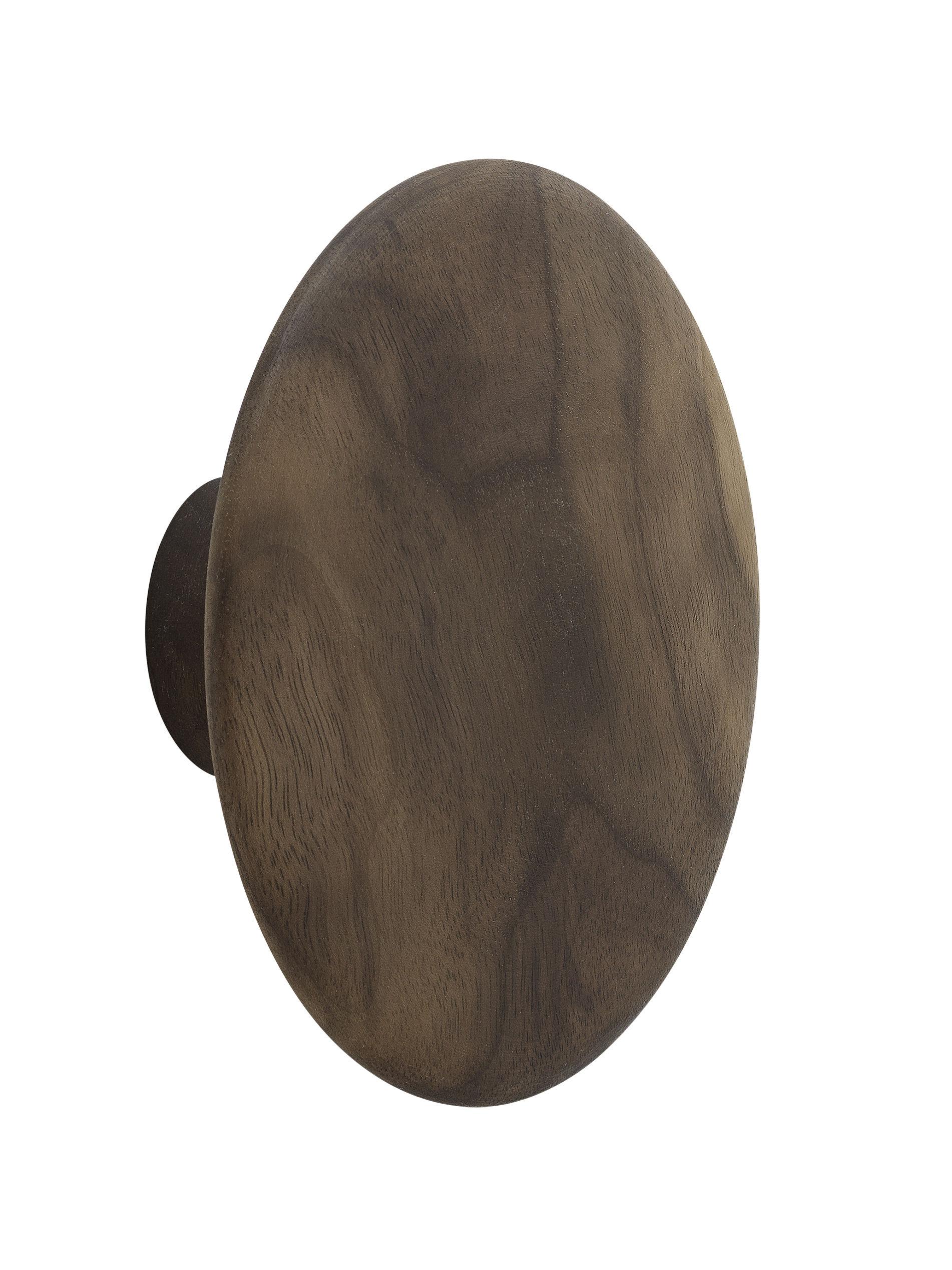 Decoration - Coat Stands & Hooks - The Dots Wood Hook - / Medium - Ø 13 cm by Muuto - Natural walnut - Natural walnut
