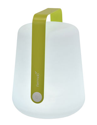 Illuminazione - Lampade da tavolo - Lampada senza fili Balad LED / H 38 cm - Ricarica USB - Fermob - Verbena - Alluminio, Polietilene