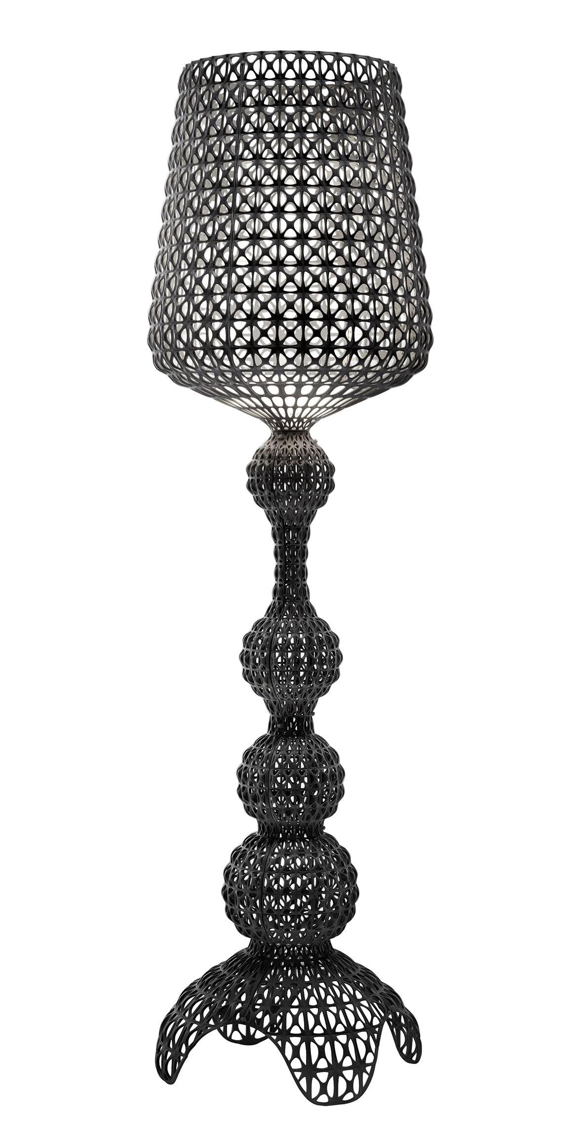 Luminaire - Lampadaires - Lampadaire Kabuki Indoor / LED - Pour l'intérieur - H 165 cm - Kartell - Noir opaque - Technopolymère thermoplastique