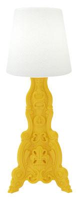 Lampadaire Madame of Love / Pour l'extérieur - H 200 cm - Design of Love by Slide blanc,jaune en matière plastique