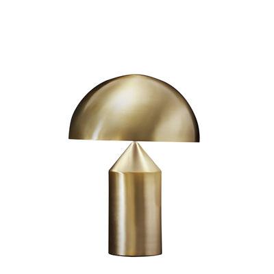 Tous les designers - Lampe de table Atollo Medium Métal / H 50 cm / Vico Magistretti, 1977 - O luce - Or - Aluminium verni