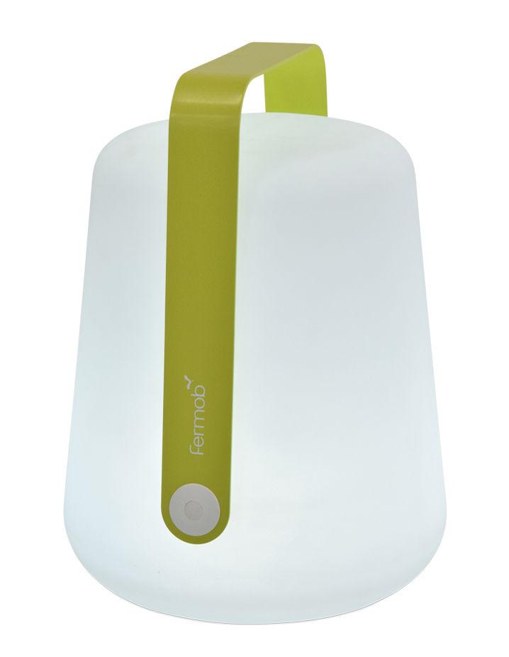 Luminaire - Lampes de table - Lampe sans fil Balad Large LED / H 38 cm - Recharge USB - Fermob - Verveine - Aluminium, Polyéthylène