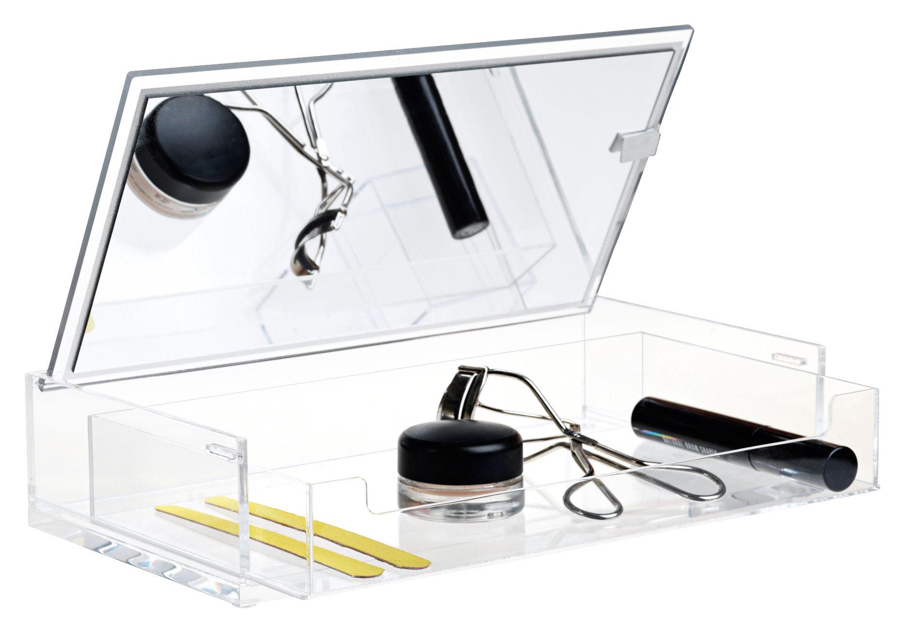 Accessoires - Accessoires für das Bad - Clear Make-up Box / mit Spiegel - Nomess - Transparent - Polyacryl