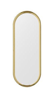 Déco - Miroirs - Miroir mural Angui / L 29 x H 78 cm - AYTM - Doré - Fer plaqué laiton, Verre