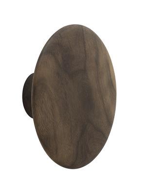 Déco - Portemanteaux et patères - Patère The Dots Wood / Medium - Ø 13 cm - Muuto - Noyer naturel - Noyer naturel