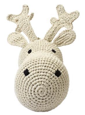 Déco - Pour les enfants - Peluche Tête de renne / Trophée en crochet - Anne-Claire Petit - Crème - Coton