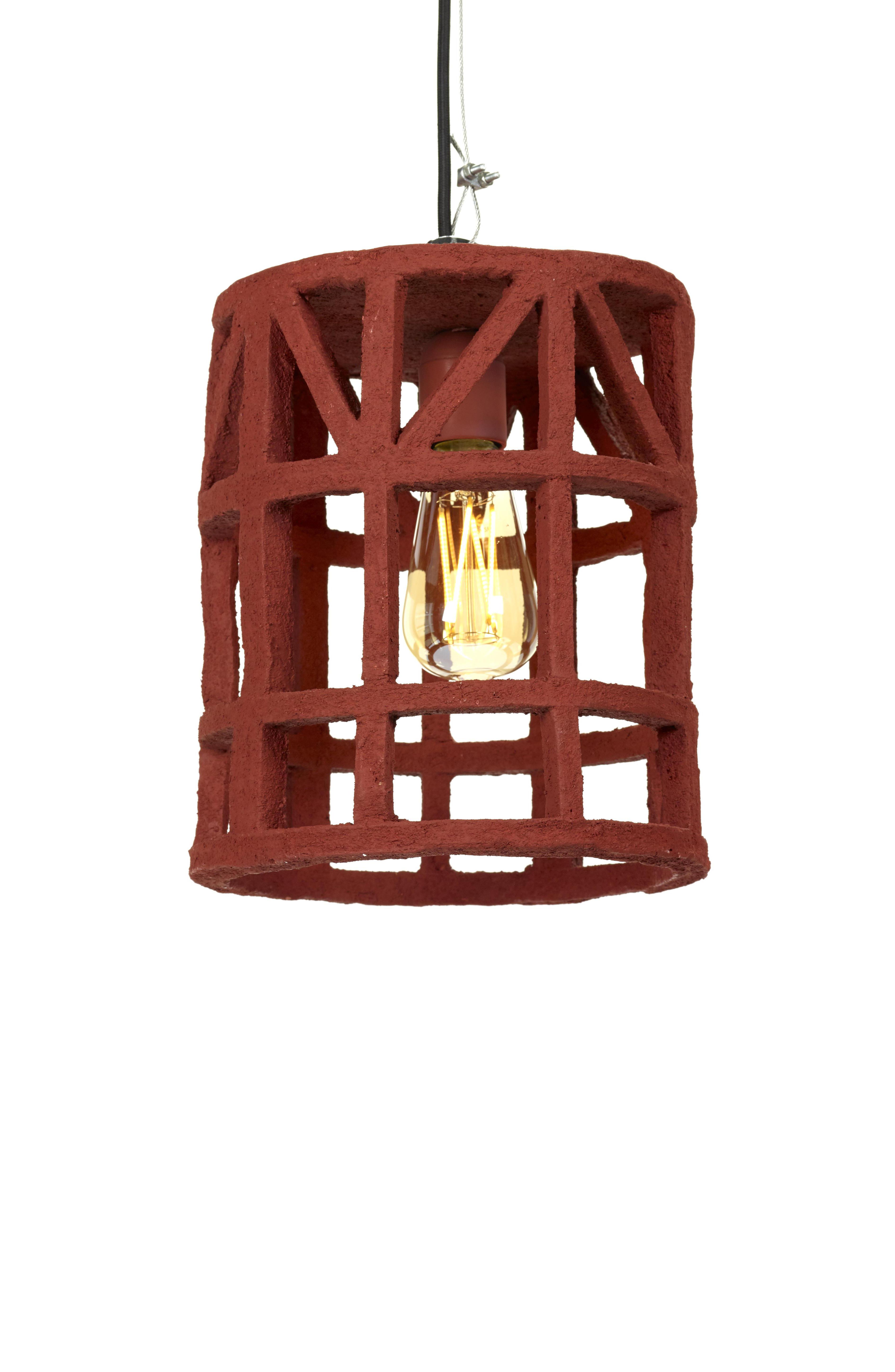 Lighting - Pendant Lighting - Marie Pendant - / Papier recyclé - Taille S by Serax - Rouge / Taille S - Recycled papier-mâché