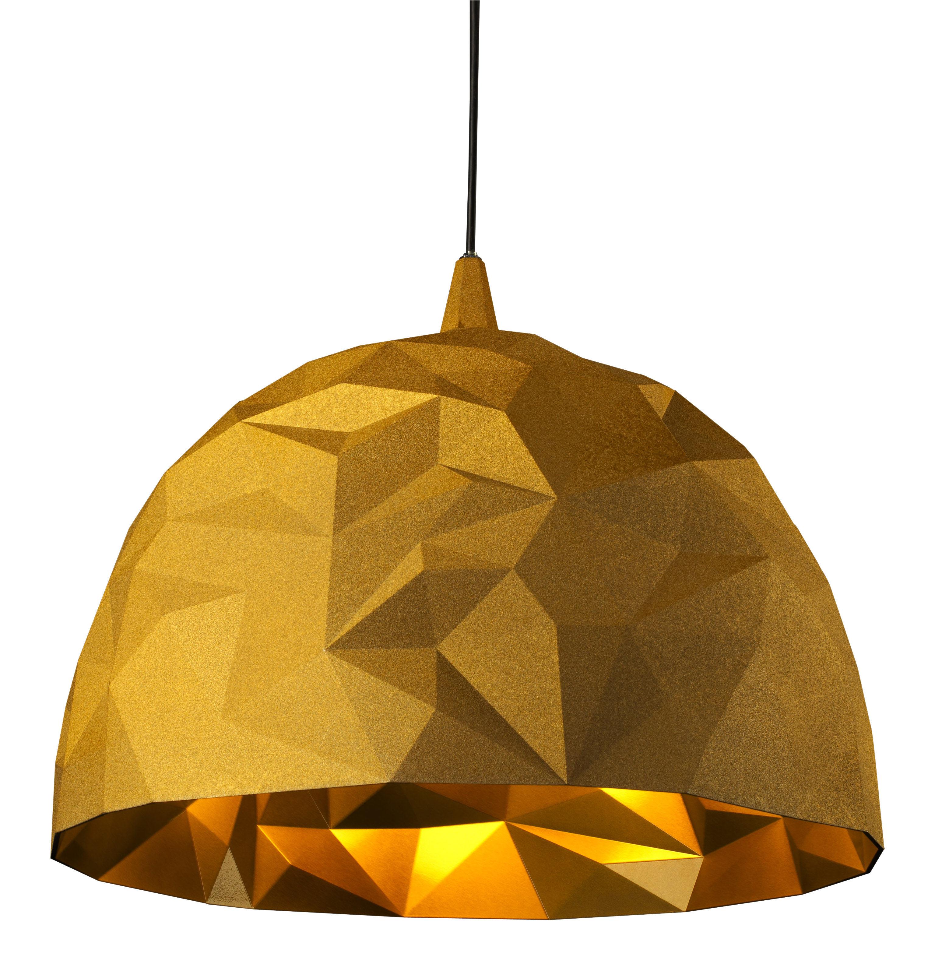 Lighting - Pendant Lighting - Rock Pendant by Diesel with Foscarini - Gold - Polycarbonate