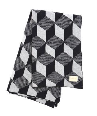 Plaid Squares / 150 x 120 cm - Ferm Living noir,argent en tissu