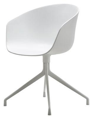 Arredamento - Sedie  - Poltrona girevole About a chair - 4 piedi - Girevole di Hay - Bianco - Ghisa di alluminio laccata, Polipropilene
