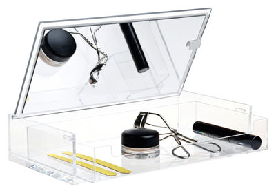 Accessori moda - Accessori bagno - Porta trucchi Clear - / Con specchio di Nomess - Trasparente - Acrilico