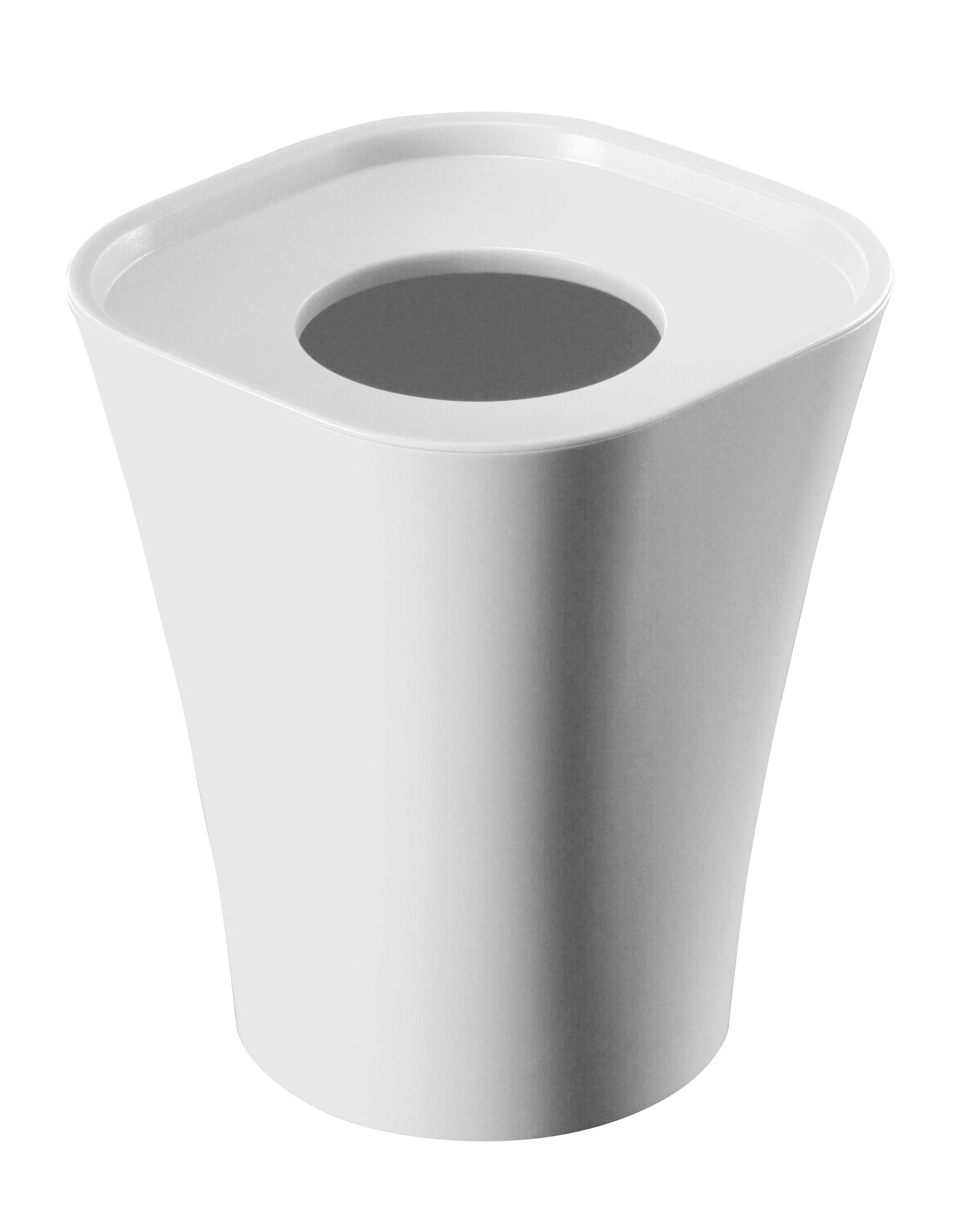 Déco - Salle de bains - Poubelle Trash H 36 cm - Magis - Blanc cassé - Polypropylène