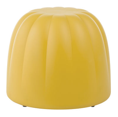 Furniture - Poufs & Floor Cushions - Gelée Pouf - Outdoor - H 40 cm by Slide - Yellow - Polyurethane foam