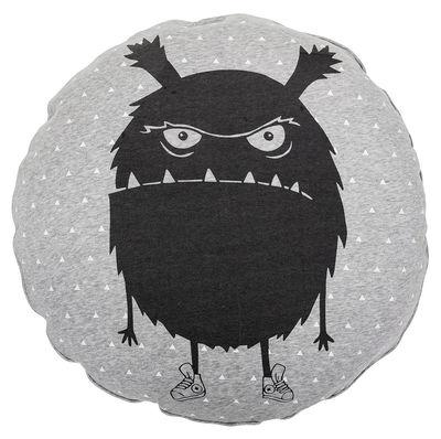 Pouf Monstre / Ø 70 cm - Bloomingville gris,noir en tissu