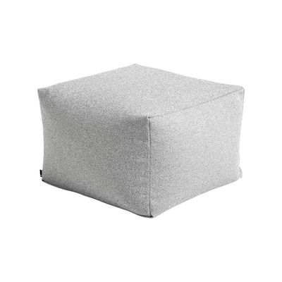 Mobilier - Poufs - Pouf Varer / Tissu- 59 x 59 cm - Hay - Gris poudré - billes EPS, Tissu