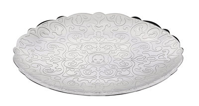 Tableware - Trays and serving dishes - Dressed for X-mas Presentation plate - Ø 26 cm by Alessi - Stainless steel - Polished stainless steel