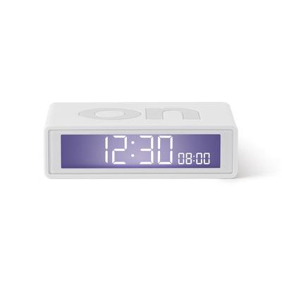 Accessoires - Réveils et radios - Réveil LCD Flip + Travel / Mini réveil réversible de voyage - Lexon - Blanc - ABS, Gomme