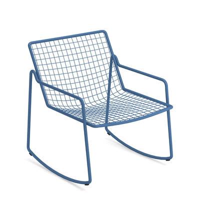 Rocking chair Rio R50 / Métal - Emu bleu en métal