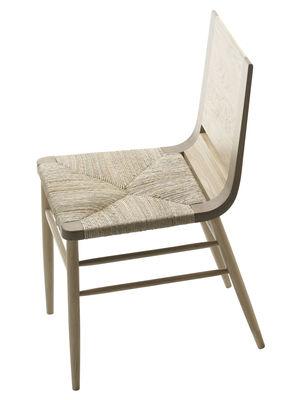 Arredamento - Sedie  - Sedia Kimua - seduta impagliata di Alki - Quercia naturale - Rovere massello