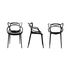 Masters Stackable armchair - / Plastic by Kartell