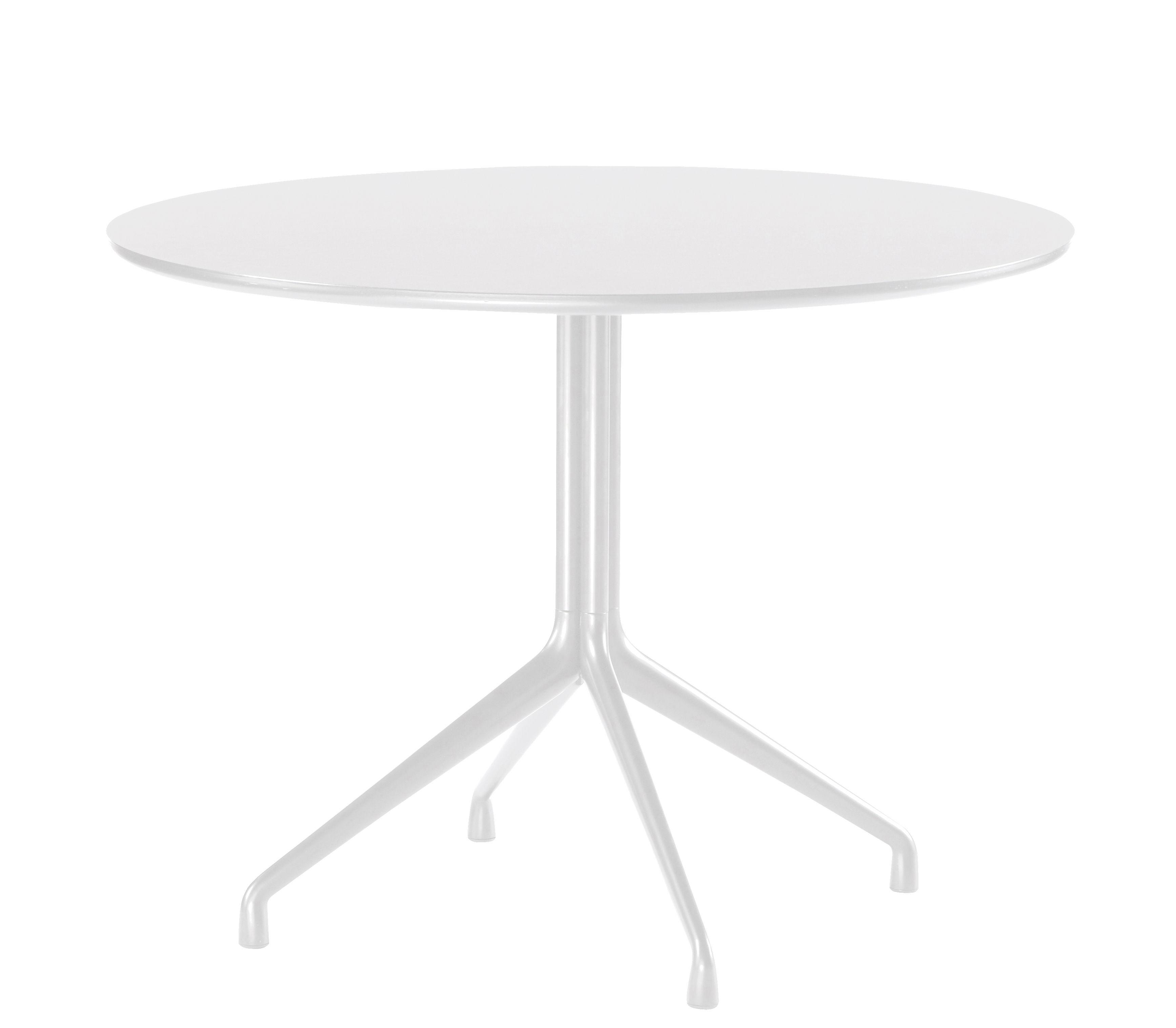 Mobilier - Tables - Table About a Table / Ø 80 cm - Hay - Blanc - Fonte d'aluminium, Linoleum verni