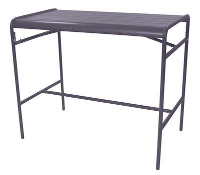 Table haute Luxembourg / 4 personnes - 126 x 73 cm - Aluminium - Fermob prune en métal