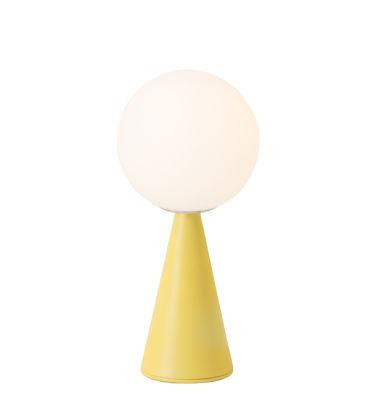 Lighting - Table Lamps - Bilia Mini Table lamp - / By Gio Ponti (1932) by Fontana Arte - Yellow - Metal, Satin blown glass