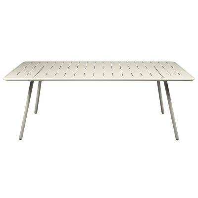 Table rectangulaire Luxembourg / 8 personnes - 207 x 100 cm - Aluminium - Fermob gris argile en métal