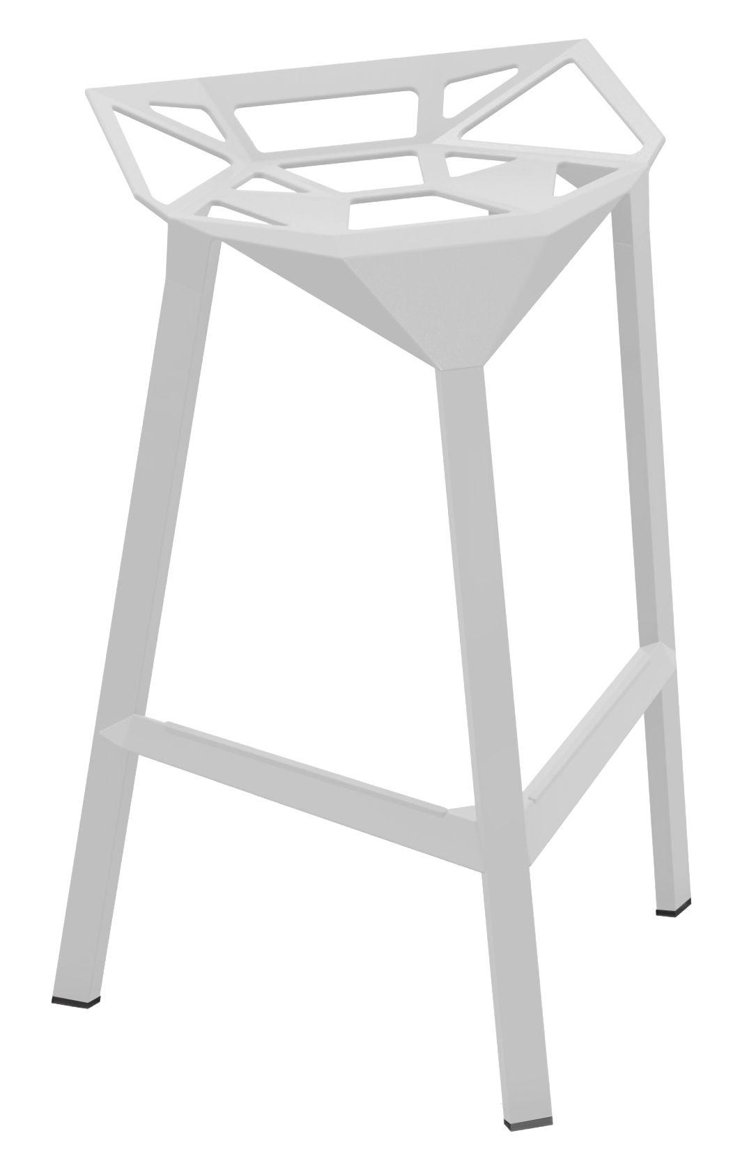 Mobilier - Tabourets de bar - Tabouret de bar Stool One / H 67 cm - Métal - Magis - Blanc - Aluminium