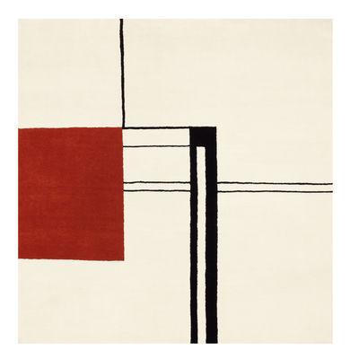 Tapis Wendingen Réédition 1925 1935 Noué main ClassiCon blanc,rouge,noir en tissu