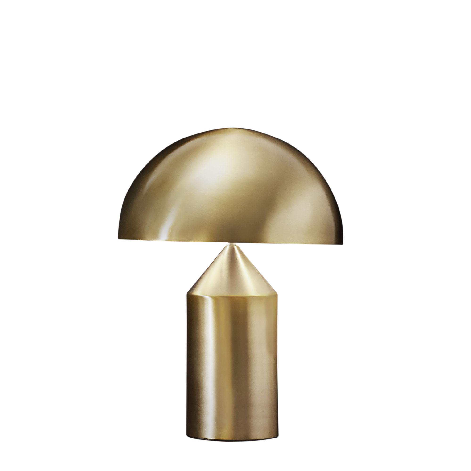 Alle Designer - Atollo Medium Tischleuchte Métal / H 50 cm / Vico Magistretti, 1977 - O luce - Gold - klarlackbeschichtetes Aluminium