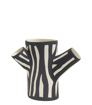 Déco - Vases - Vase Tree Trunk Small / H 15 cm - Peint à la main - Hay - Blanc - Céramique