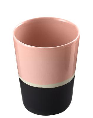 Verre Sicilia / Céramique - Maison Sarah Lavoine rose/noir en céramique