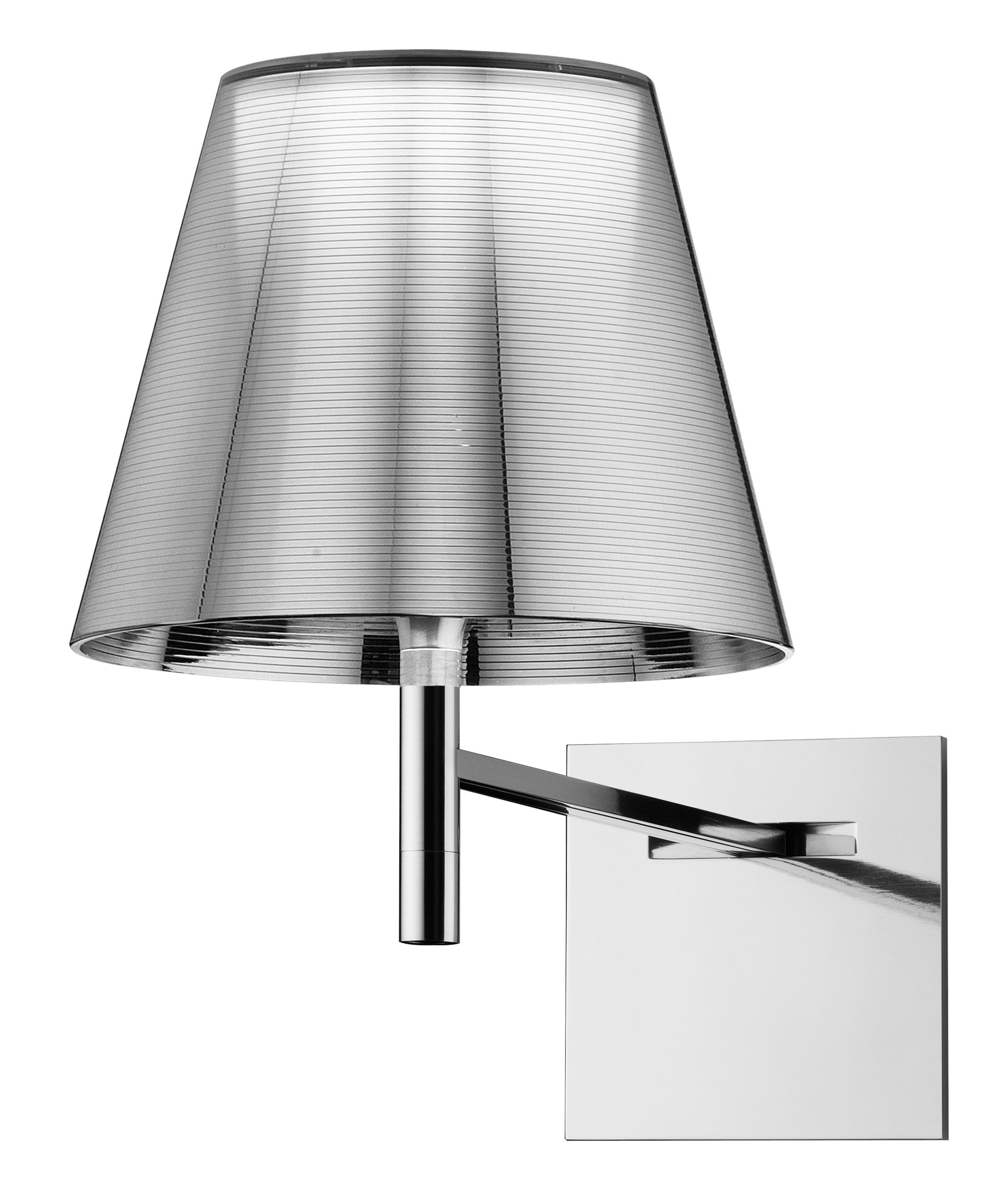 Lighting - Wall Lights - K Tribe W Wall light by Flos - Metal-coated silver - PMMA, Polished aluminium