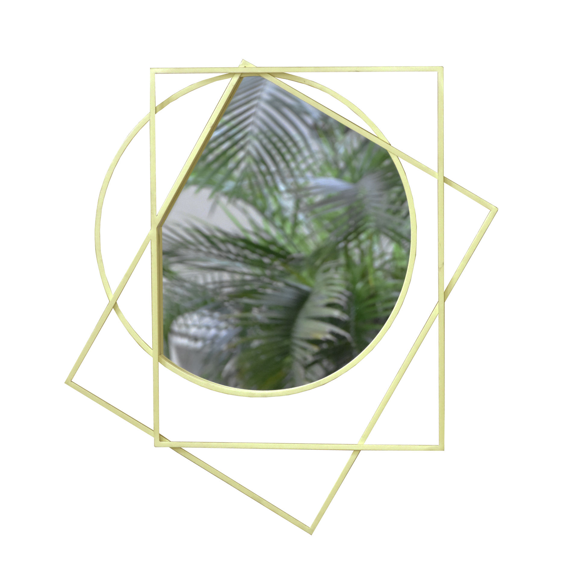 Decoration - Mirrors - Prego Wall mirror by ENOstudio - Brass - Glass, Steel