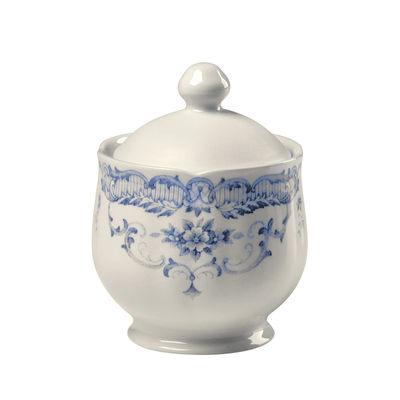 Tavola - Caffè - Zuccheriera Rose - / H 11,5 x Ø 8,4 cm di Bitossi Home - Blu - Céramique Ironstone