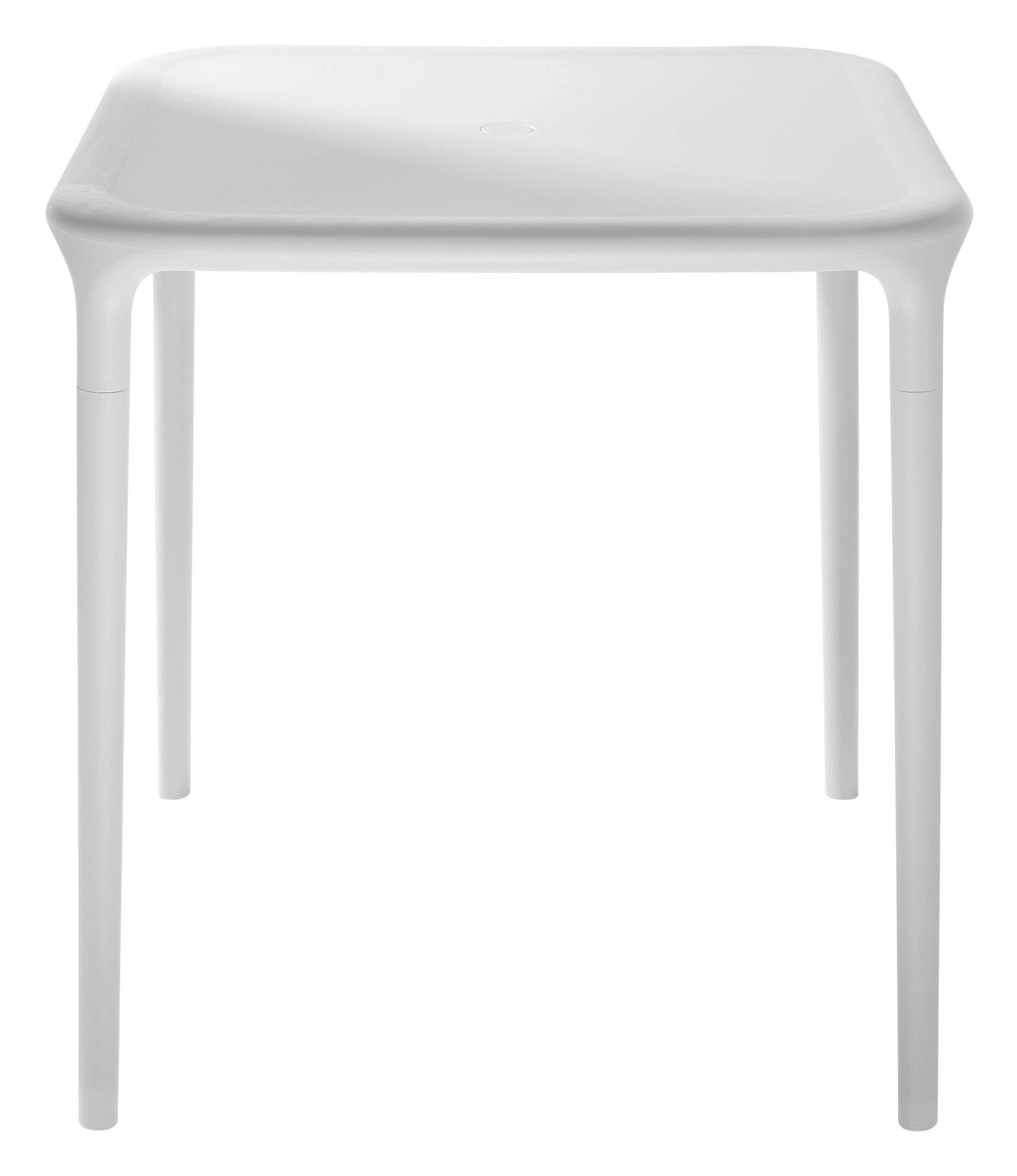 Jardin - Tables de jardin - Table carrée Air-Table / 65 x 65 cm - Magis - Blanc 65 x 65 cm - Polypropylène