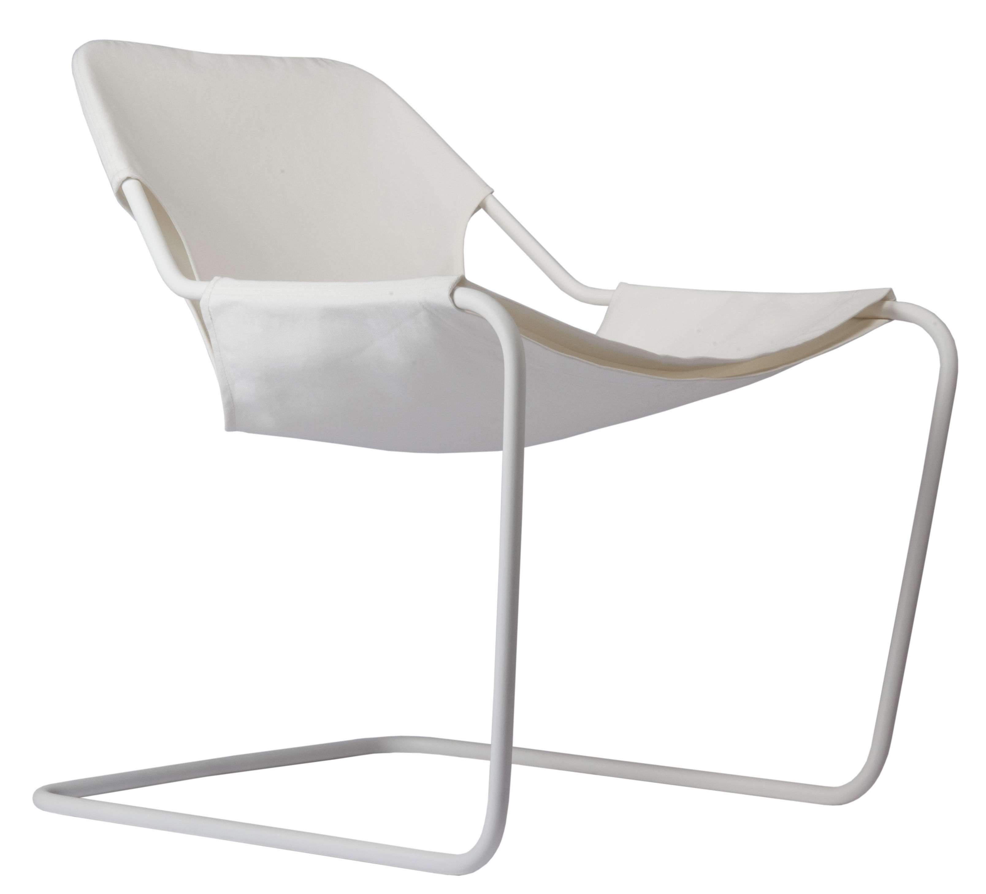 Furniture - Armchairs - Paulistano Outdoor Armchair by Objekto - White / White structure - Carbon, Cotton