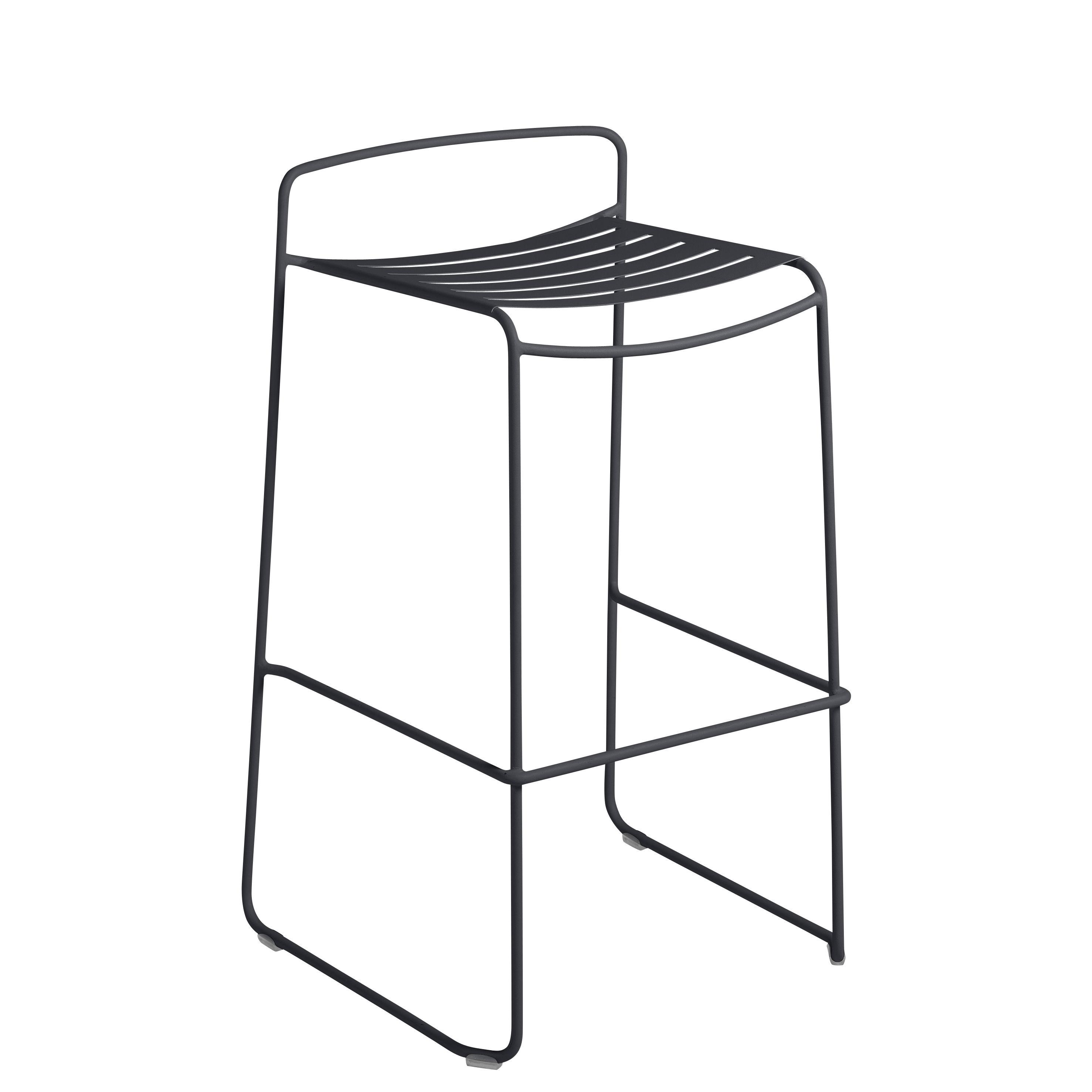 Möbel - Barhocker - Surprising Barhocker / Metall - H 78 cm - Fermob - Anthrazit - bemalter Stahl