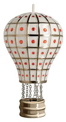 Boule de Noël Faberjorì / Montgolfière - Porcelaine peinte main - Alessi rouge,gris en céramique