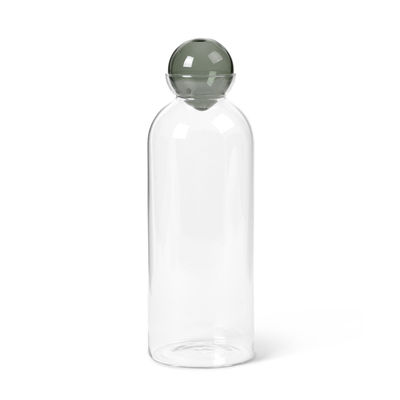 Tableware - Water Carafes & Wine Decanters - Still Carafe - / 1.4 L - Hand-blown glass by Ferm Living - Transparent / Smoked grey - Mouth blown glass