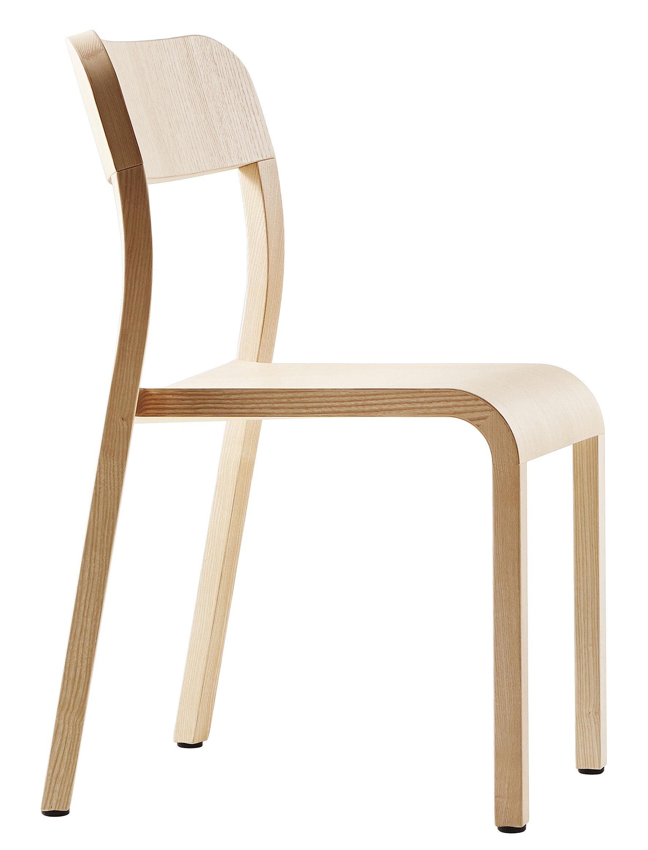 Mobilier - Chaises, fauteuils de salle à manger - Chaise empilable Blocco / Bois - Plank - Frêne naturel - Frêne naturel